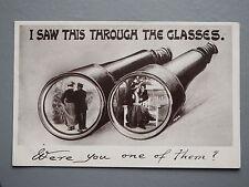 R&L Postcard: Davidson Bros Romantic Sentimental Edwardrian Binoculars