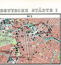 Berlin au milieu de 1910 minuscules Atlas-Carte wilhelmstr. Château Linden Reichstag Alex