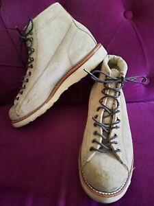 CHIPPEWA USA SAND BEIGE SUEDE LACE UP ANKLE BOOTS SIZE 7 EU 41