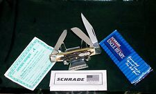 """Schrade 834 Knife Uncle Henry Rancher Stockman 3-5/16"""" 1990's NOS W/Packaging"""