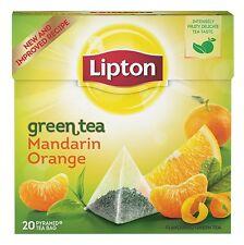 LIPTON Mandarin Orange Flavored Green Tea 20 Silk Pyramid Bags