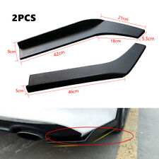 2X 62CM Car ABS Bumper Spoiler Anti-crash Rear Lip Angle Splitter Diffuser Parts