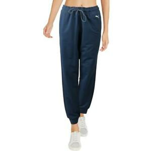 Puma Womens Blue Sweatpants Fitness Workout Jogger Pants Athletic L  5673