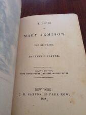 Antique 1859 Life Of Mary Jemison, De-He-Wa-Mis, 4Th Edition