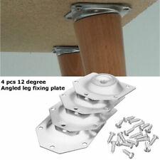4x Angewinkelte-Beine Befestigung Platte Halterung Holz Sofa Sessel Tisch