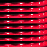 Lot8 Red 15 LED 30CM Car Grill Flexible Waterproof Light Strip SMD 12V Sales