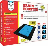 Brain Booster 56 Puzzle With Magnetic Shapes & Board, Puzzle Book, Solution Book