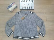 Joules Mariel Navy blue cream Boucle Jacket blazer box blazer uk 14 BNWT