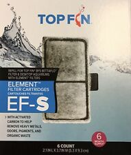 Top Fin Fish Tank Element Filter Carbon Cartridges EF-S 6 Month Supply 2.1 x 3.7