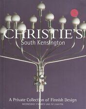Christies 20th Century FINNISH DESIGN Scandinavian Aalto Wirkkala Sarpaneva Jung