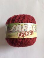 Kattens Safari Effekt Yarn Red Made In Sweden 100% Bomull Cotton