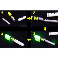 10x Luminous Floating Battery Operated LED For Dark Water Night Fishing Float P0
