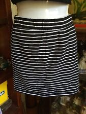 Sexy Body Con Lyla & Co Black White Striped Cotton Skirt Sz 8