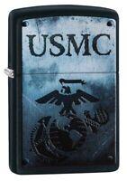 Zippo U.S. Marine Corps Black Matte Windproof Pocket Lighter, 28744