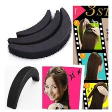 Popular 3Pcs Women Girl Hair Bump Bun Maker Style Accessories Tool  Clip Stick