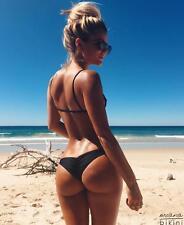 Sexy Women Brazilian Cheeky Bikini Bottom Thong Traingle Briefs Swimwear Bathing