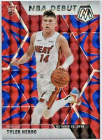 2019-20 Panini Prizm Mosaic Tyler Herro Rookie RC Blue Reactive Miami Heat 📈🔥