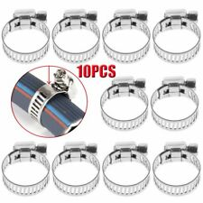 "10PCS 3/8""-5/8"" Stainless Steel Drive Hose Clamp Fuel Line Worm Clip HOT"