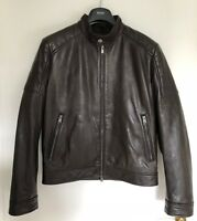 Boss von Hugo Boss Lederjacke Getani Leather Jacket Gr. 48 braun Original & NEW