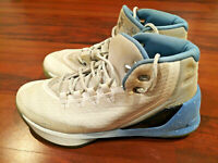 Under Armour PS Curry 3 Men's Boys Youth Size 7 Basketball Shoes White Blue