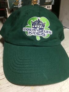 LA Los Angeles Kings SGA Shamrock Clover Irish Embroidered cap hat NHL