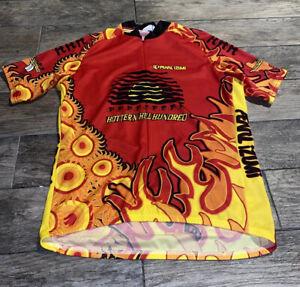 WICHITA FALLS BICYCLING CLUB HOTTER'N HELL CYCLING SHIRT JERSEY XXL PEARL  MENS