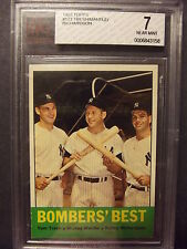 1963 Topps #173 - Mickey Mantle - BVG 7 - Near Mint - Bombers Best - Yankees