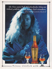 ANNONCE PUBLICITAIRE1992 - ADVERTISING - COUPURE MAGAZINE - METAXA