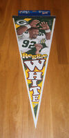 1990's PACKERS Reggie White caricature pennant Green Bay HOFer MINT