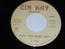"""AL BOLT NM Paint Your World Happy 45 I'm In Love with My Pet Rock 109 cin-kay 7"""""""