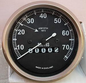 Speedometer Royal Enfield Motorcycle 0-70 MPH Black