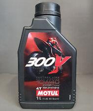 1x MOTUL 300v 4t 10w40 ACEITE DE MOTOR motorradöl 1 Litro Road Carreras +#