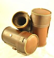 Leather case for glasses from carpathian deer natural leather