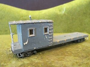 Gray work  Caboose wood  HO Built Kit train car