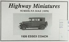 JORDAN HIGHWAY MINIATURES HO SCALE 1/87 1926 ESSEX COACH KIT