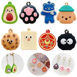 3D Cartoon Cover For Apple AirTag Silicone Loop Holder Keyring Carry Case