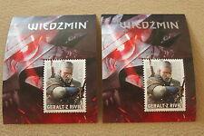 The Witcher 3: Wild Hunt - 2 Stamps  Polish Exclusive - Znaczki WIedźmin