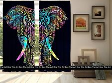 Indian Cotton Elephant Mandala Curtain Window Door Cover Hanging Drape Tapestry
