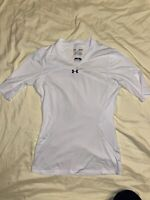 Under Armour Heat Gear Women's Size Medium FITTED White Volleyball Jersey