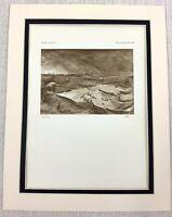 1927 Antico Stampa Tempestose Presso Mare Jonah Balena Bibbia Pittura Pieter