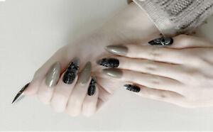 3D skeleton Salon Acrylic Natural Nails