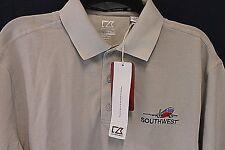 Cutter & Buck CB DryTec Gray S/S Polo Shirt MCK01263 Promotional SOUTHWEST Sz M