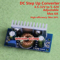 6A DC-DC Boost Step Up Voltage Regler Converter 12v 19v 24v 36v Supply Module