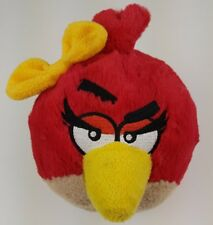"""Angry Birds 8"""" Red Girl Bird with Yellow Bow Plush Rovio With Sound"""