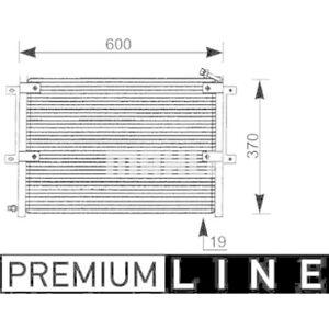 1 Condenseur, climatisation MAHLE AC 171 000P BEHR *** PREMIUM LINE ***