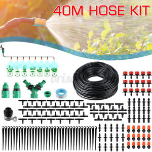 DIY Irrigation System Water Timer Auto Plant Watering Micro Drip Garden 25M
