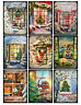 Christmas Window Scenes Glossy Finish Card Making Topper - Crafts