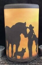 COWGIRL HORSE & AUSTRALIAN CATTLE DOG -   STUBBY HOLDER - PERFECT GIFT!
