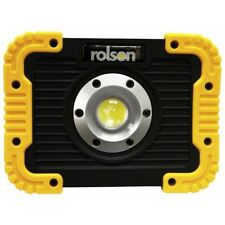 Rolson 10W COB Rechargeable Work Lamp USB Lead Charge Indicator