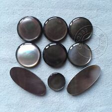 2 set saxophone finger button pearl real shell black shell